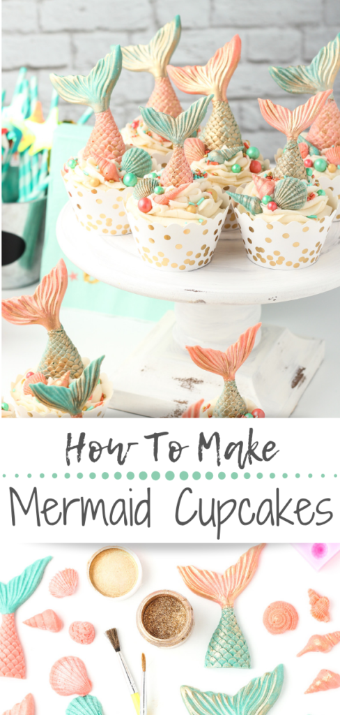 These easy to make Mermaid Chocolate Tail Cupcakes and Magical Mermaid Popcorn are perfect for your next themed party!