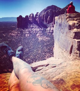 Sitting on top of Sedona spire