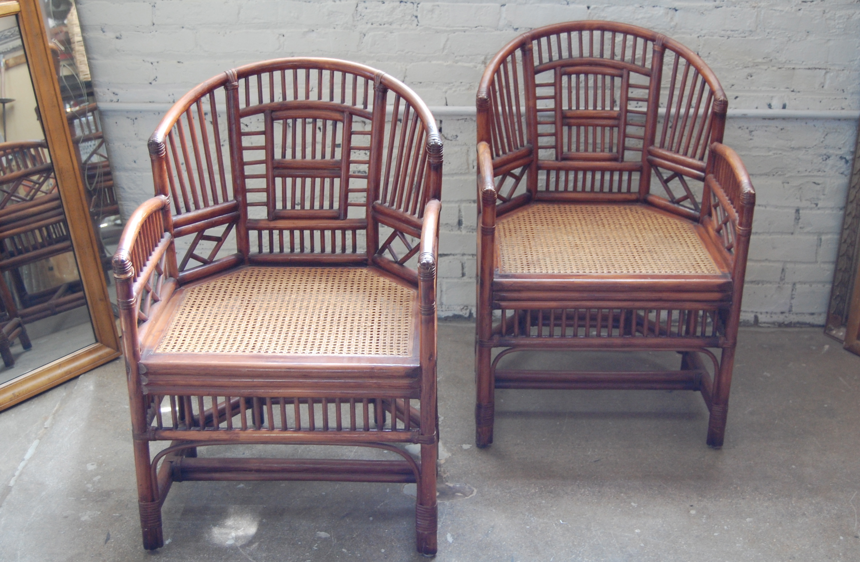 Pavilion Chair Pair Of Brighton Pavilion Style Rattan Club Chairs The