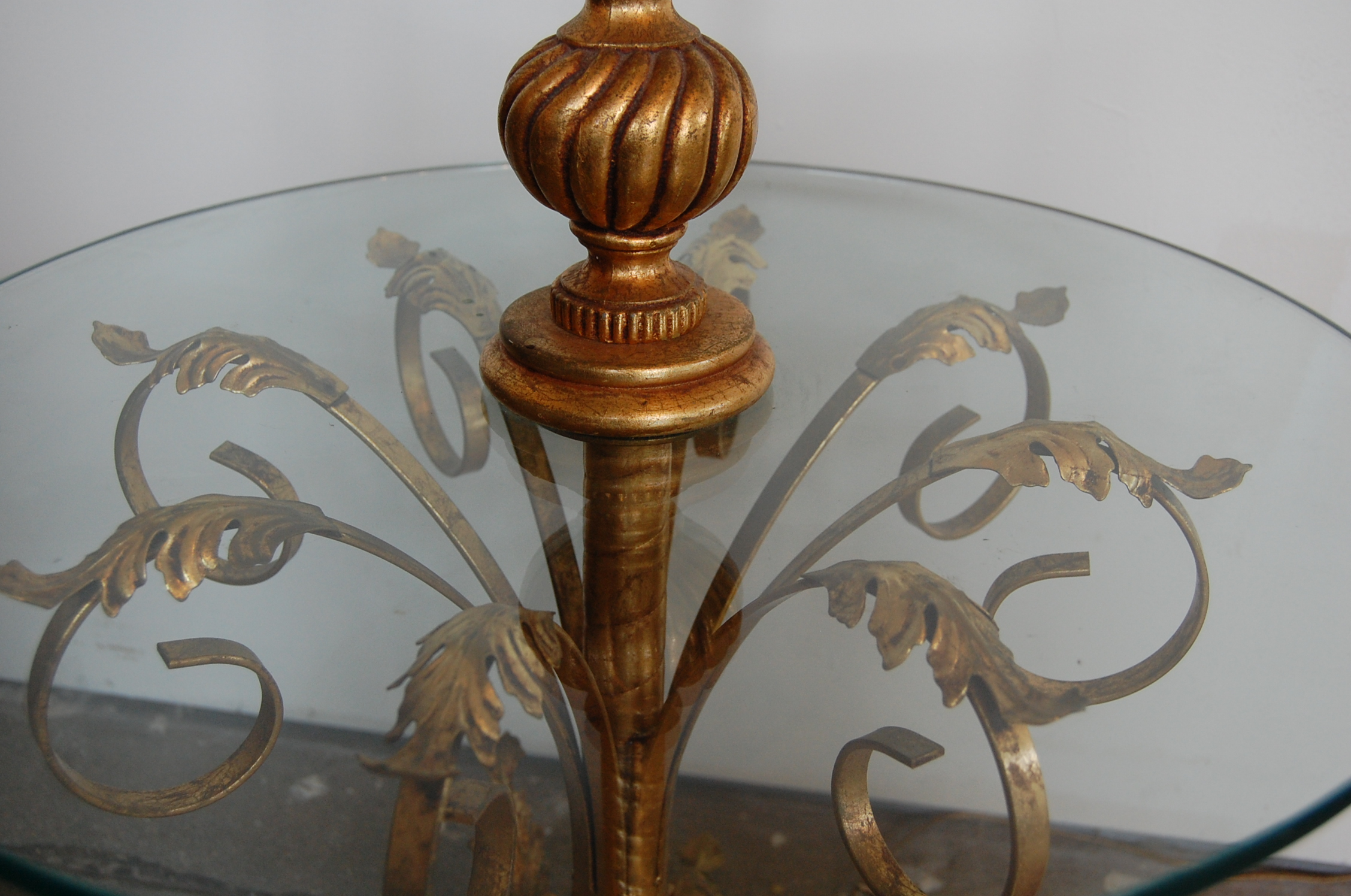 Vintage Regency Italian Tole Table  Floor Lamp  The