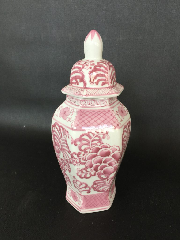Pink Chinese Ginger Jar  The Savoy Flea