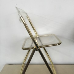 Acrylic Folding Chairs Chair Cover Hire Dunfermline Brevattato Lucite And Gold The Savoy Flea
