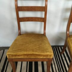 Sturdy Kitchen Chairs Hood For Pair Of Antique Klismos Continental Burl Wood Dining ...