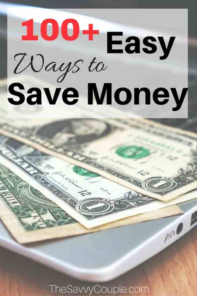 100+ easy ways to save money! Saving money does not have to be difficult. Pick 10-15 of these tips to follow and you will be a savvy saver in no time.