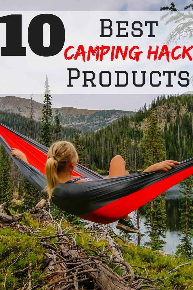 The top 10 best camping hack products to help you save money while you camp! Camping Ideas | Camping products | Camping Tips