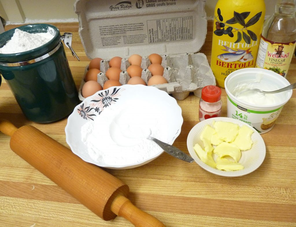 Angel Wings pastry ingredients