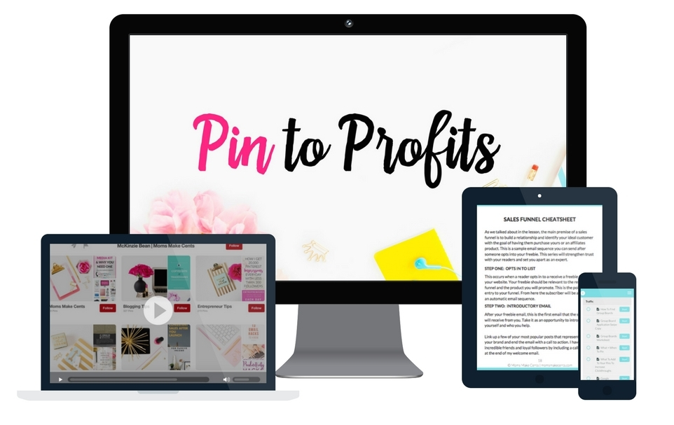 Want to make money with Pinterest? Take this awesome course to learn tricks of the trade! #affiliate
