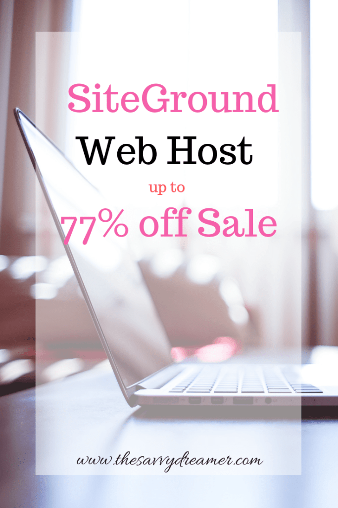 Get Siteground Web hosting now on sale up to 77% off #webhosting