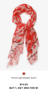 Floral scarf from Ardene