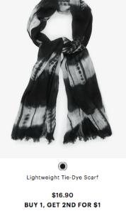 Tie Dye Scarf from Ardene