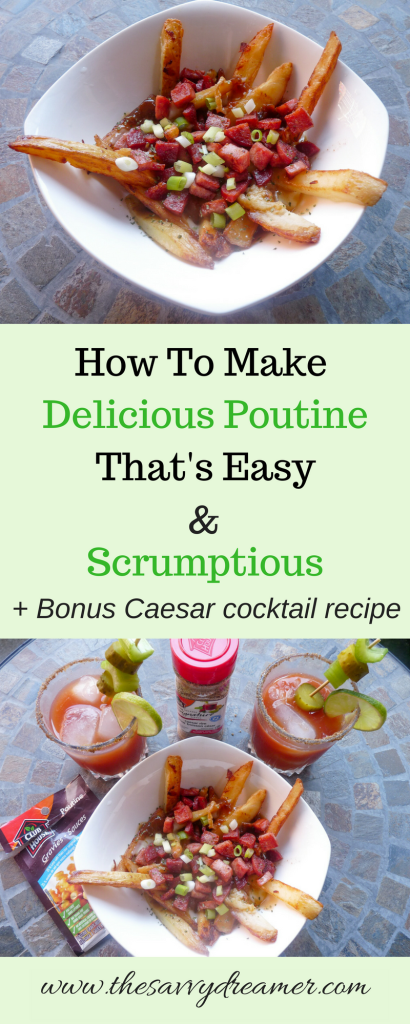 Learn how to make delicious Poutine at home using the #ClubHouse #complimentary #poutine #gravy from #Influenster #Canadian #recipe #frenchfries #Caesar