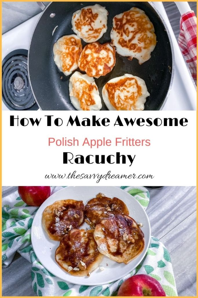 The best recipe for easy Polish apple fritters with kefir #racuchy #plackizjablkami #applefritters #Polishdessert