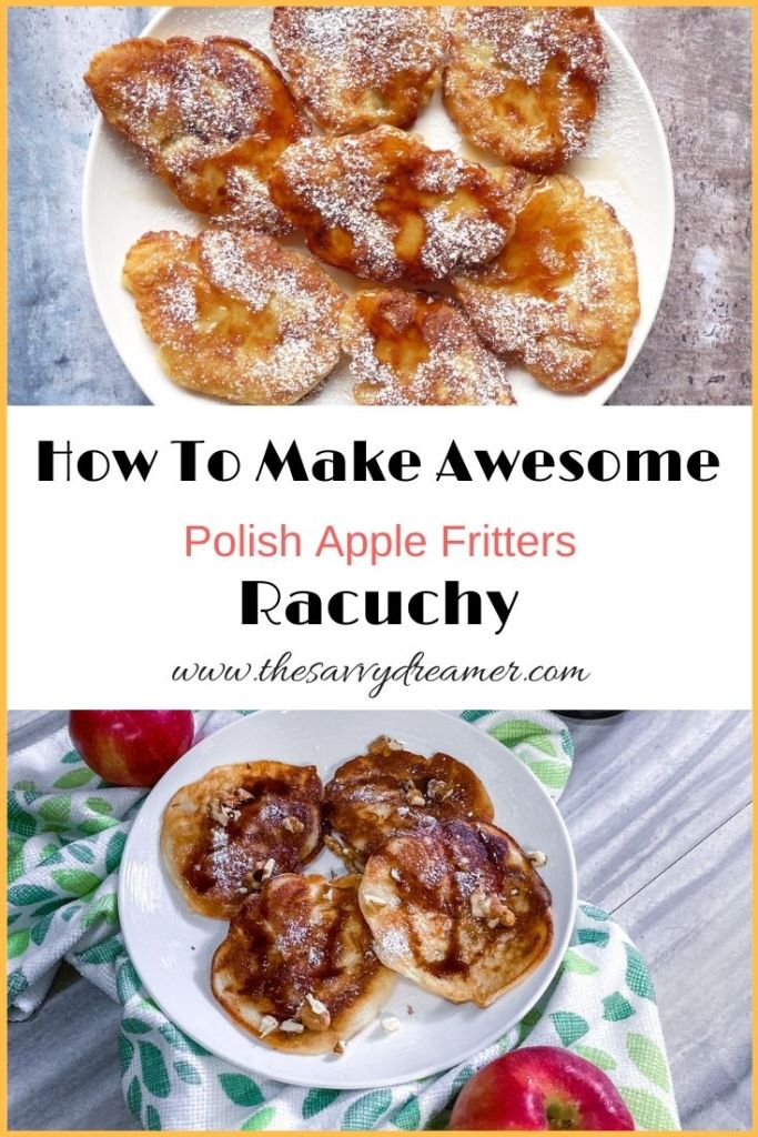The best recipe for Polish apple fritters with kefir #racuchy #plackizjablkami #applefritters