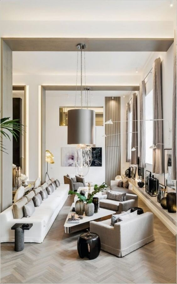 The living room is one of the most important areas in your house for a great hosting experience. 4 Floor Plans & Furniture Layout Ideas For A Long & Narrow ...