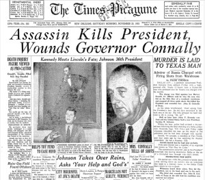 Headline about Lee Harvey Oswald