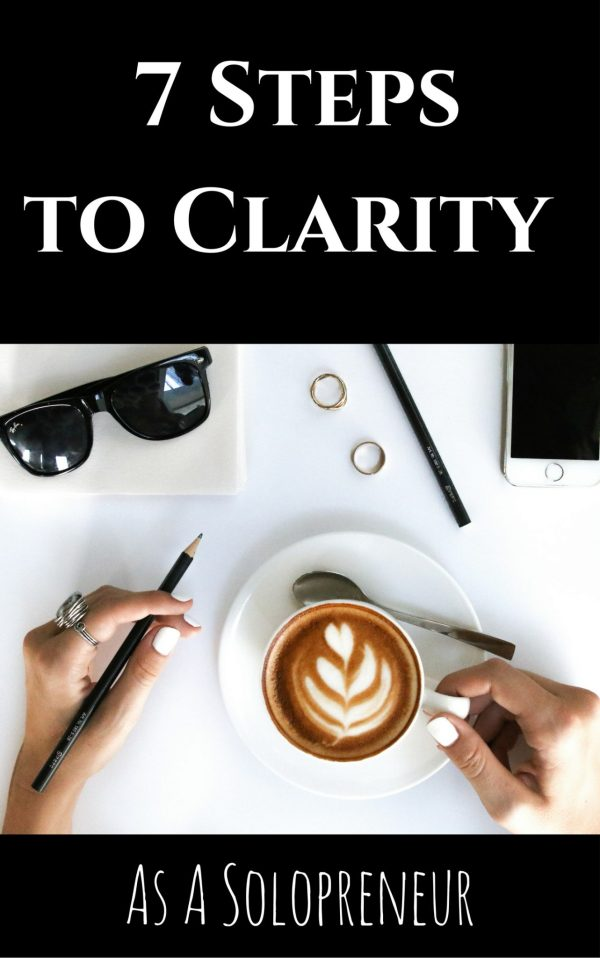 Seven steps to clarity as a solopreneur - workbook