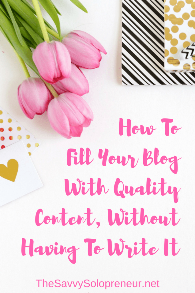 Finding Quality Content For Your Blog, Without Having To Write It