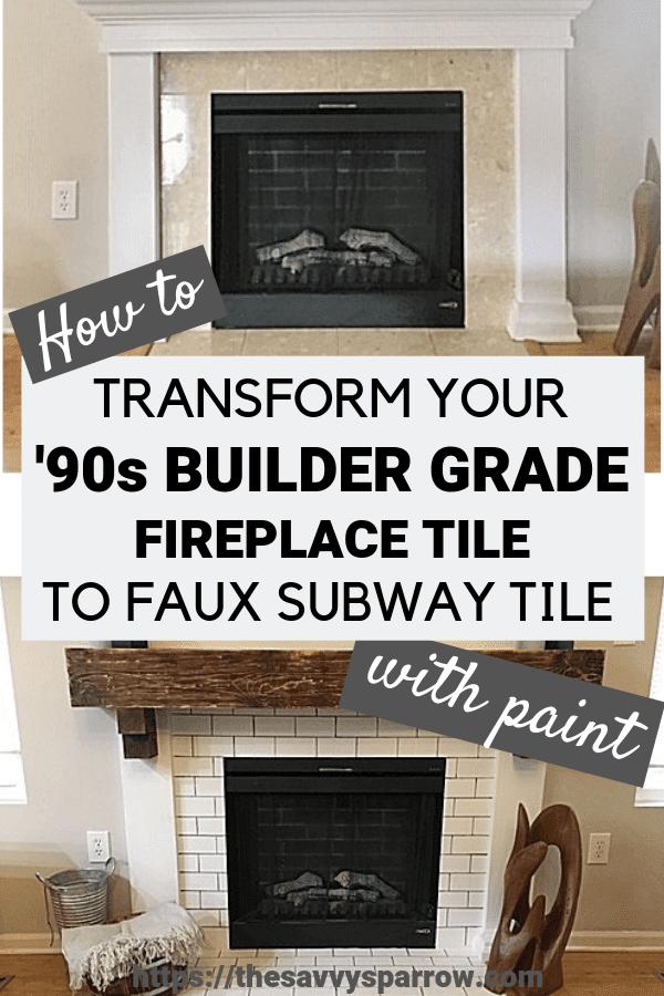how to paint faux subway tile a diy