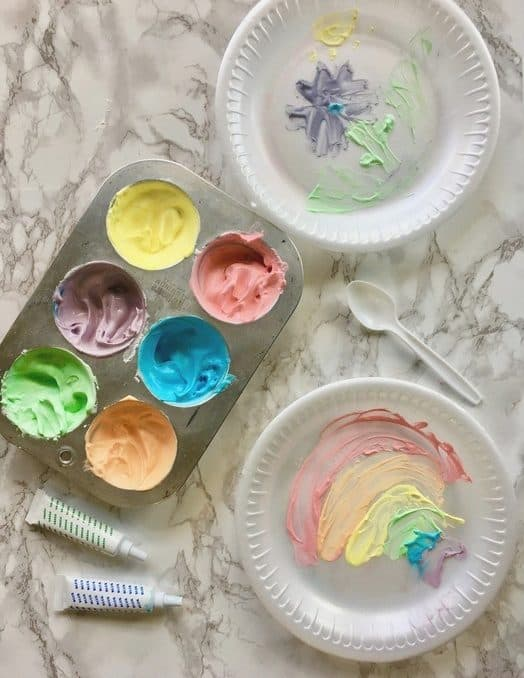 Indoor activities for kids: Edible finger paint