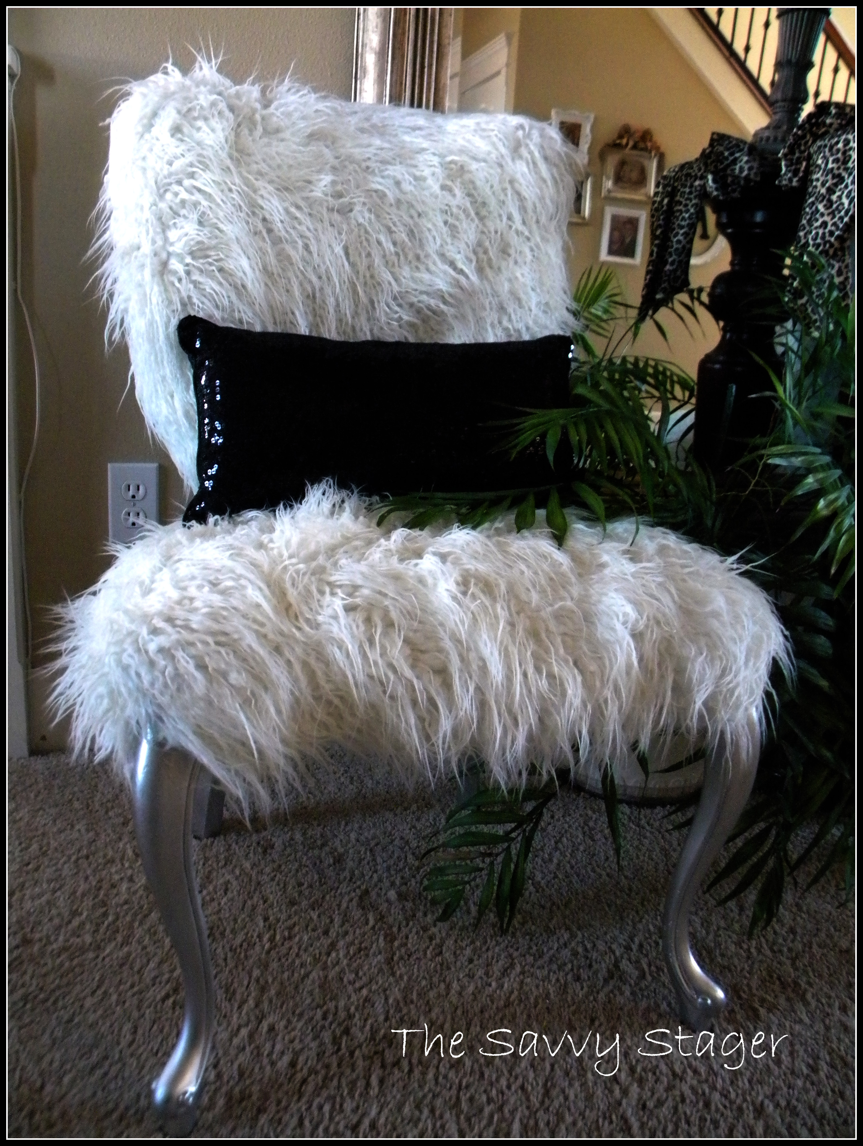 A couple of furry chairs  The Savvy Stager