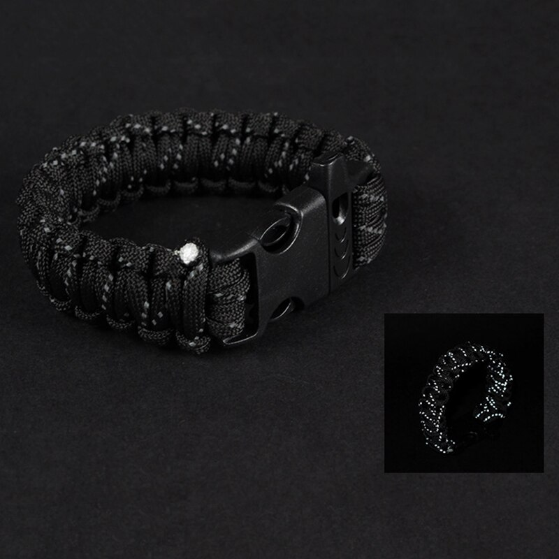 Outdoor Paracord Survival Bracelet with Whistle