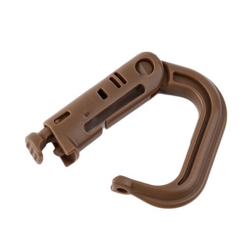1pc D Shape Climbing Carabiner Screw Lock Bottle Hook Buckle Hanging Padlock Keychain Camping Hiking Snap 4.jpg 640x640 4