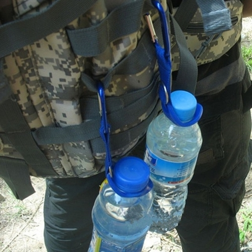 2017 New Carabiner Water Bottle Holder Camping Hiking Aluminum Rubber Buckle Hook high quality.jpg 640x640