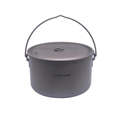 FLAME S CREED 1100ml 1950ml Ultralight Outdoor Camping Titanium Pot pan Cooking Pot fry pan Titanium 1