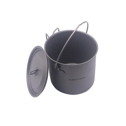 FLAME S CREED 1100ml 1950ml Ultralight Outdoor Camping Titanium Pot pan Cooking Pot fry pan Titanium 4