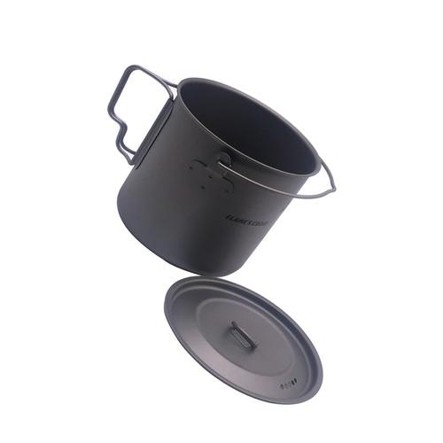 FLAME S CREED 1100ml 1950ml Ultralight Outdoor Camping Titanium Pot pan Cooking Pot fry pan Titanium 5