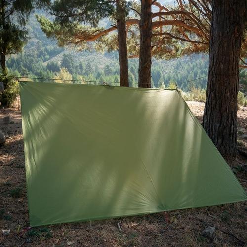 FLAME S CREED Ultralight Tarp Lightweight MINI Sun Shelter Camping Mat Tent Footprint 15D Nylon Silicone 1