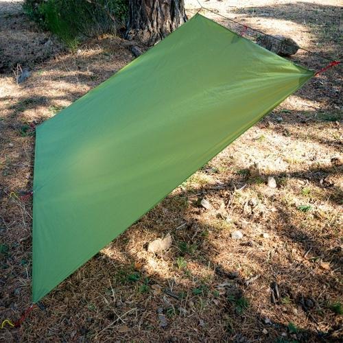 FLAME S CREED Ultralight Tarp Lightweight MINI Sun Shelter Camping Mat Tent Footprint 15D Nylon Silicone 3