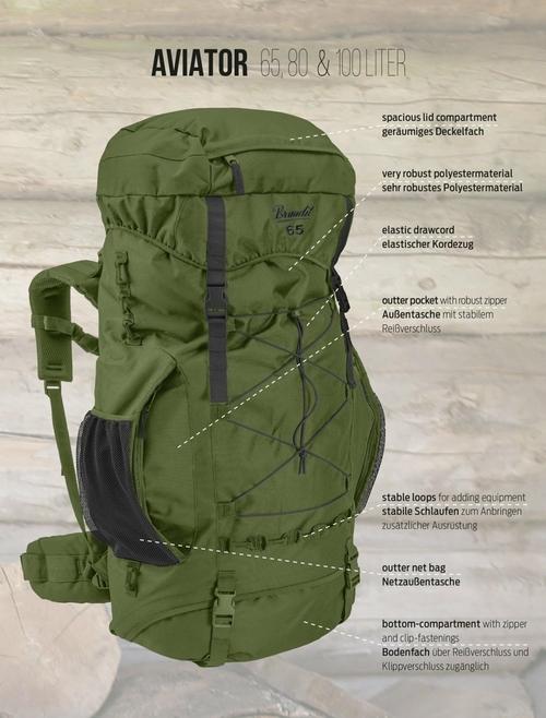 aviator 100 backpack brandit norviner store 412