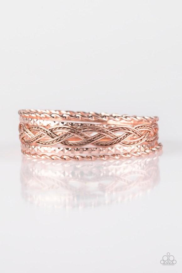 rose gold 5 bangles/bracelets