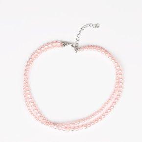 pink pearl choker