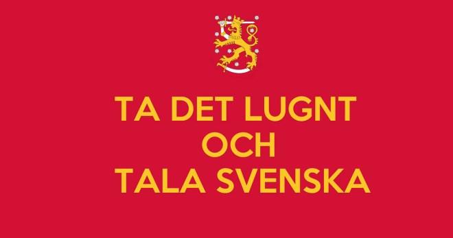 Take it easy and speak Swedish