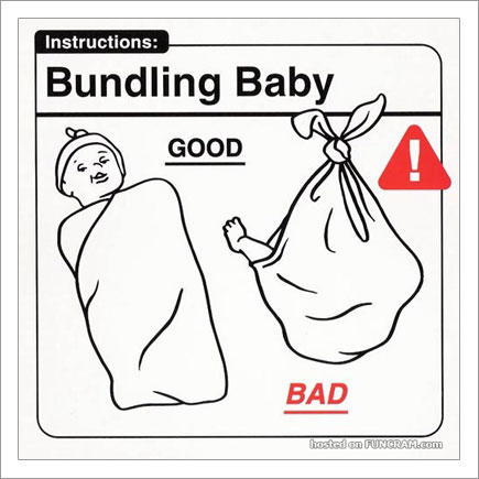 Baby Instructions For New Parents: Bundling Baby