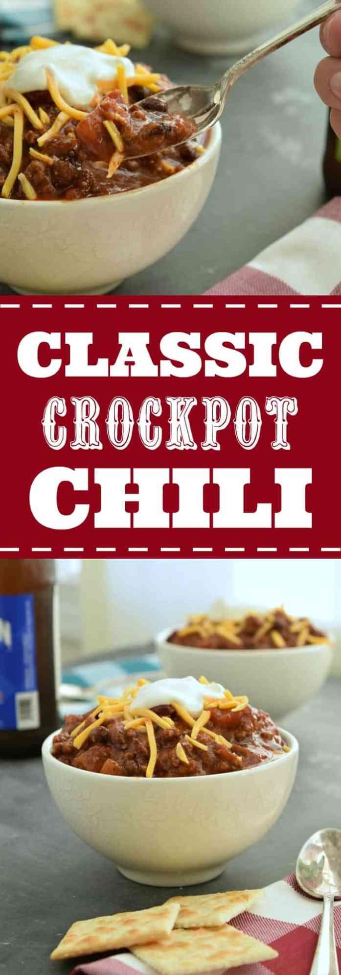 Classic Crockpot Chili