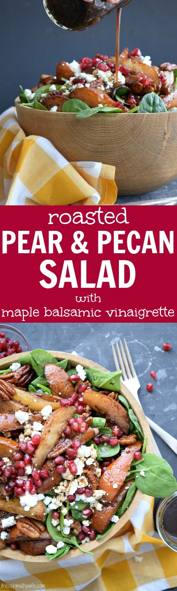 Roasted Pear Pecan Salad