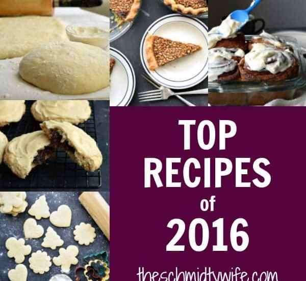 Top 5 Recipes of 2016