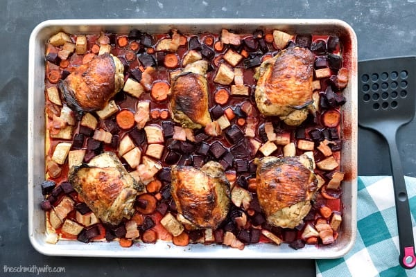 Sheet Pan Winter Chicken Dinner