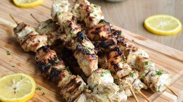 Grilled Greek Chicken Kabobs