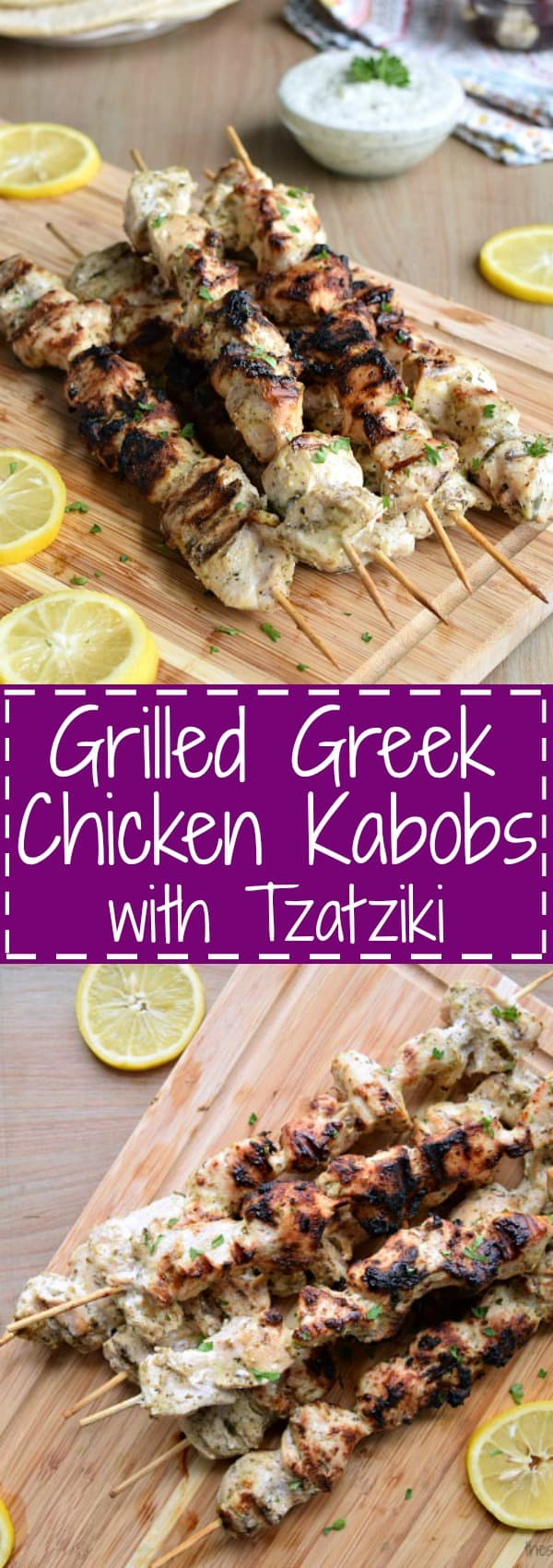 Grilled Greek Chicken Kabobs with Tzatziki