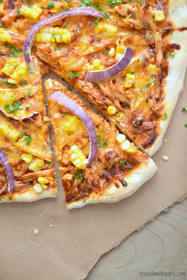 Loaded BBQ Chicken Pizza