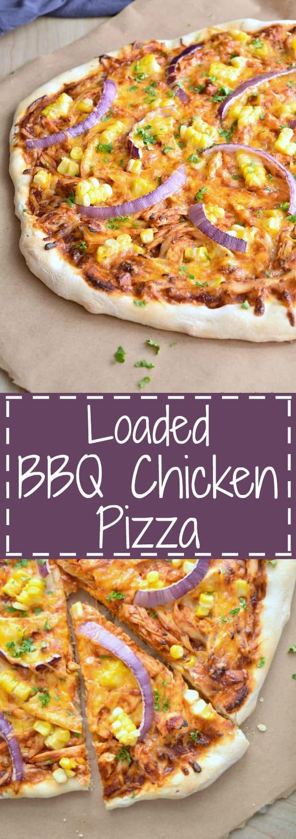 Loaded BBQ Chicken Pizza