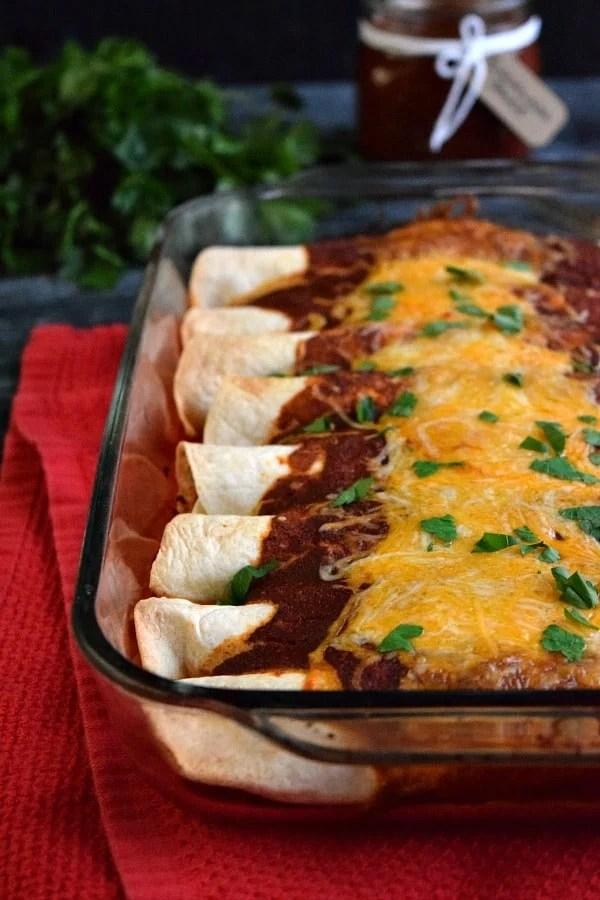 Leftover Chicken Enchiladas