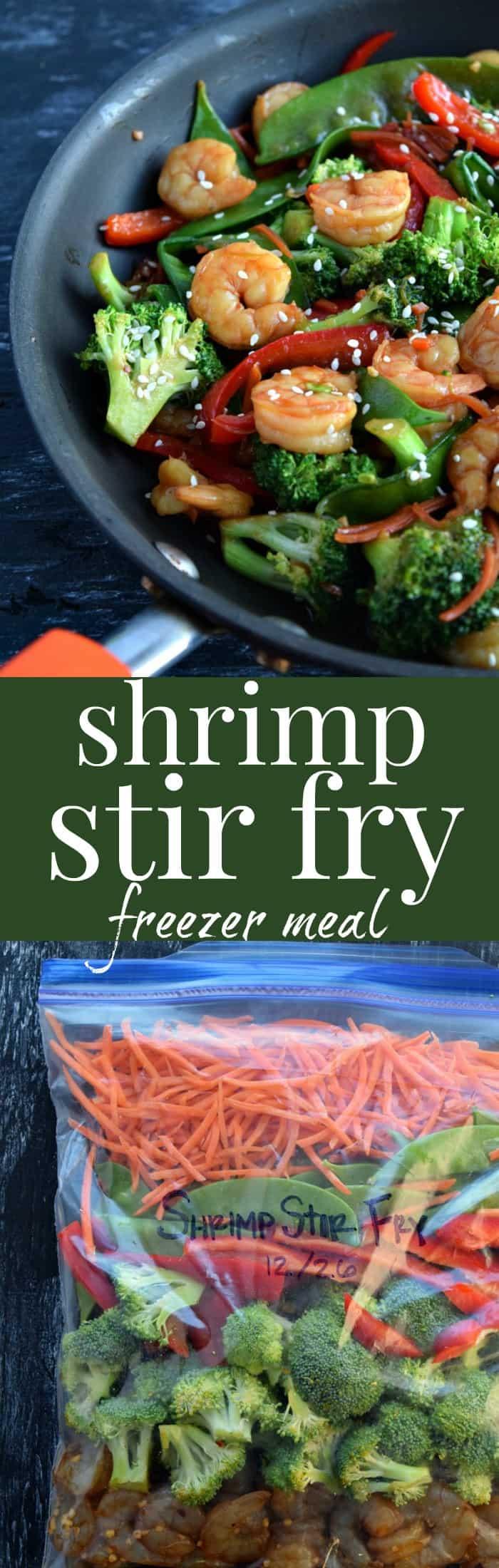 Shrimp Stir Fry (Freezer Meal)