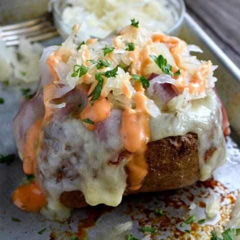 Reuben Stuffed Baked Potatoes Recipe