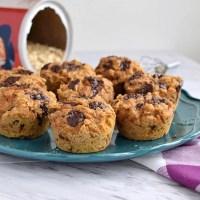 Healthy Sweet Potato Oatmeal Muffins