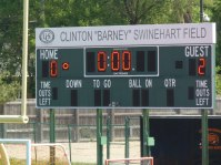 Scoreboard after half showing Stoney up 2-0.